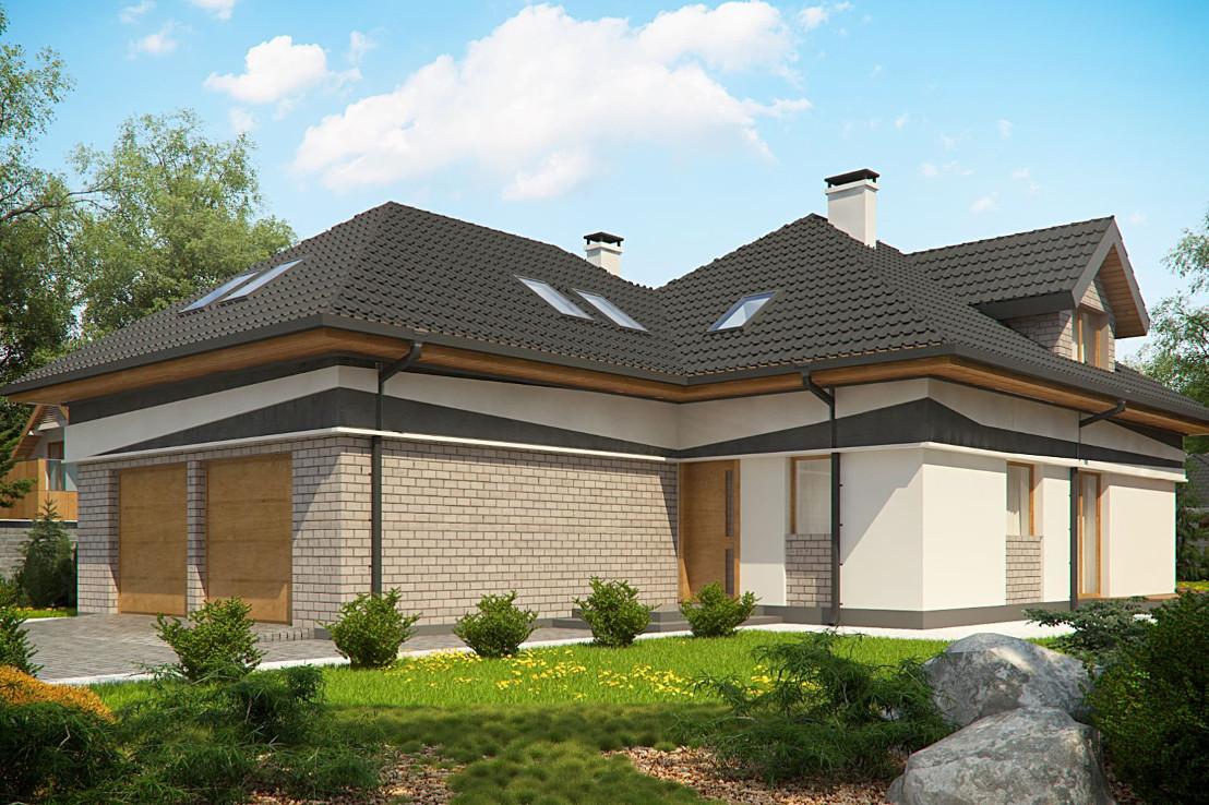 Проект дома 070N (фото фасада 1)