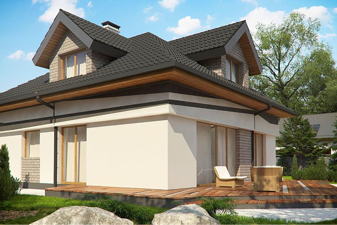Проект дома 070N (фото фасада 2)