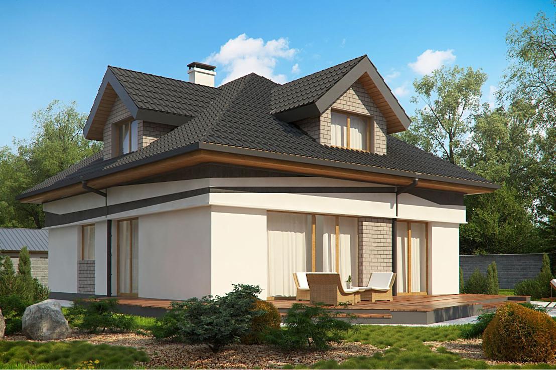Проект дома 070N (фото фасада 3)