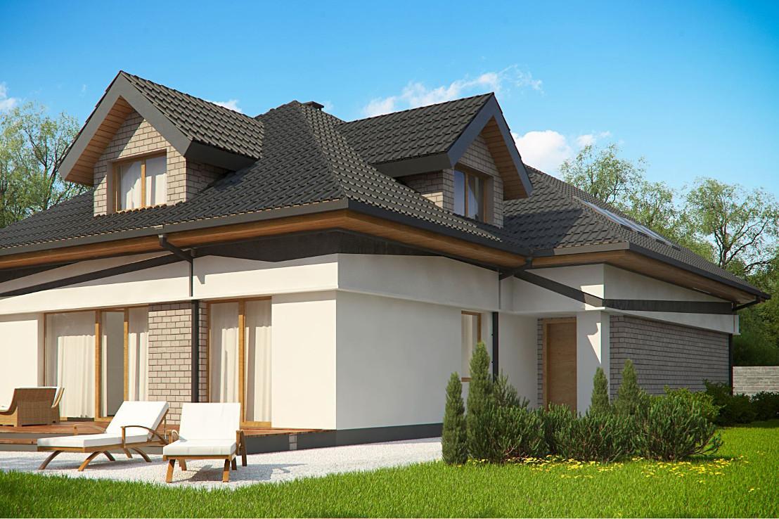 Проект дома 070N (фото фасада 4)