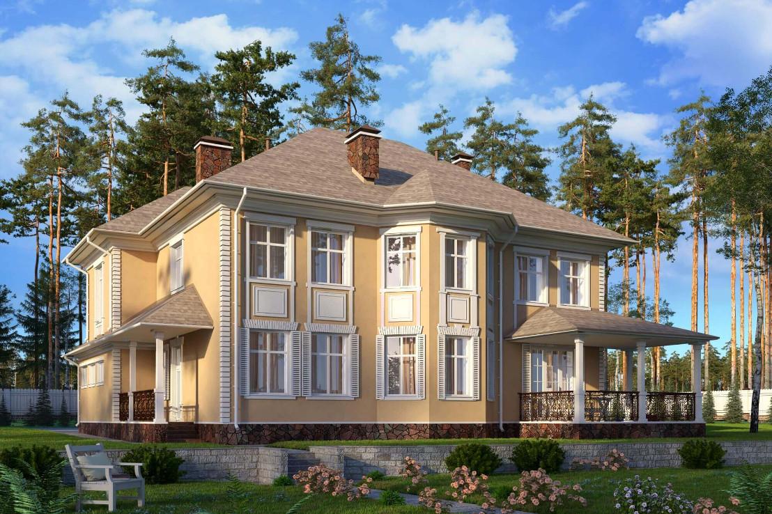 Проект дома 071N (фото фасада 1)