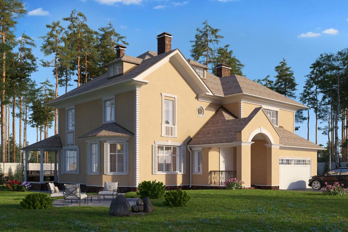 Проект дома 071N (фото фасада 2)
