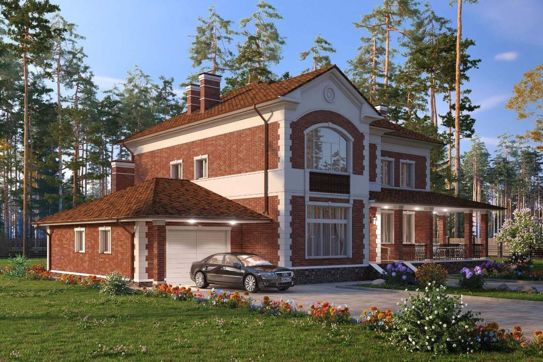 Проект дома 072N (фото фасада 1)