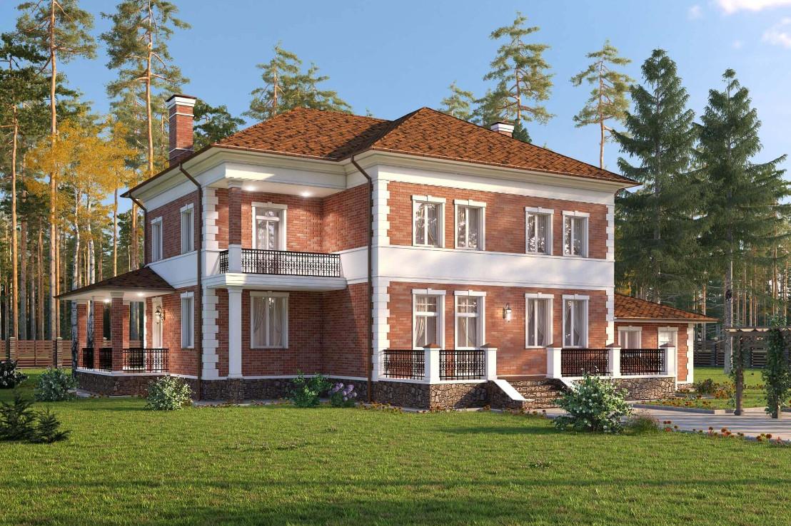 Проект дома 072N (фото фасада 2)