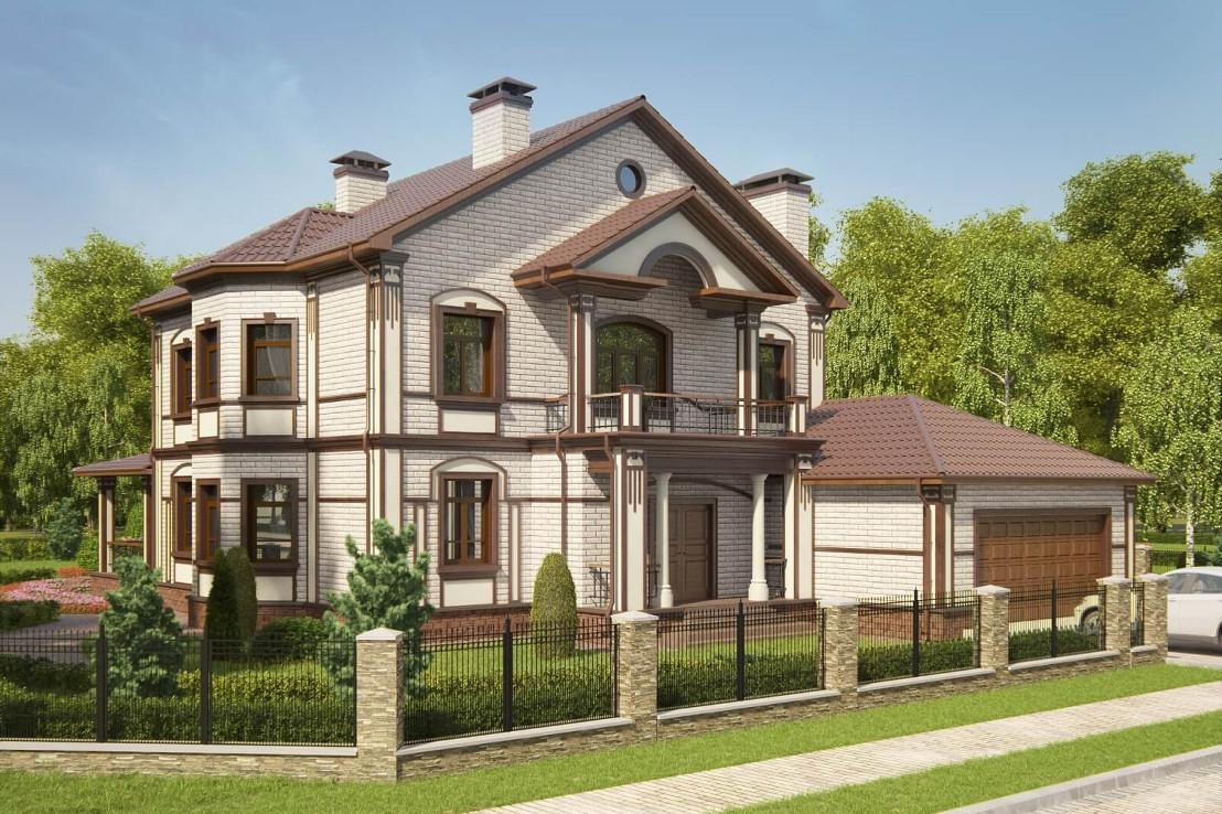 Проект дома 073N (фото фасада 1)