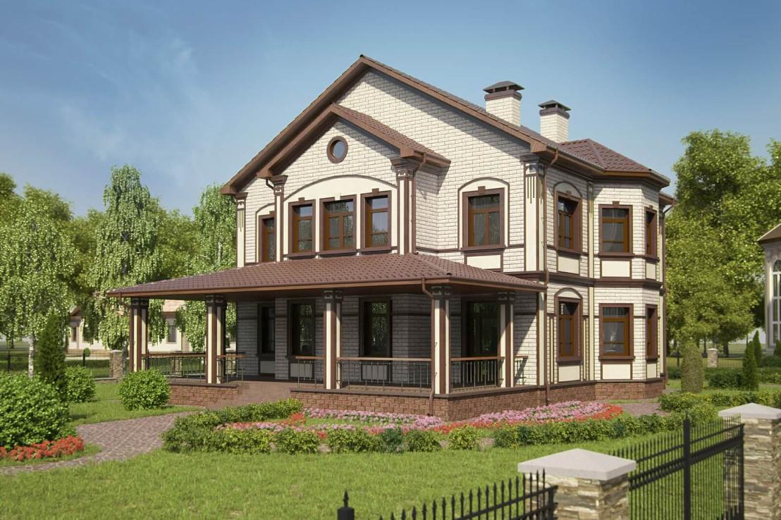 Проект дома 073N (фото фасада 2)