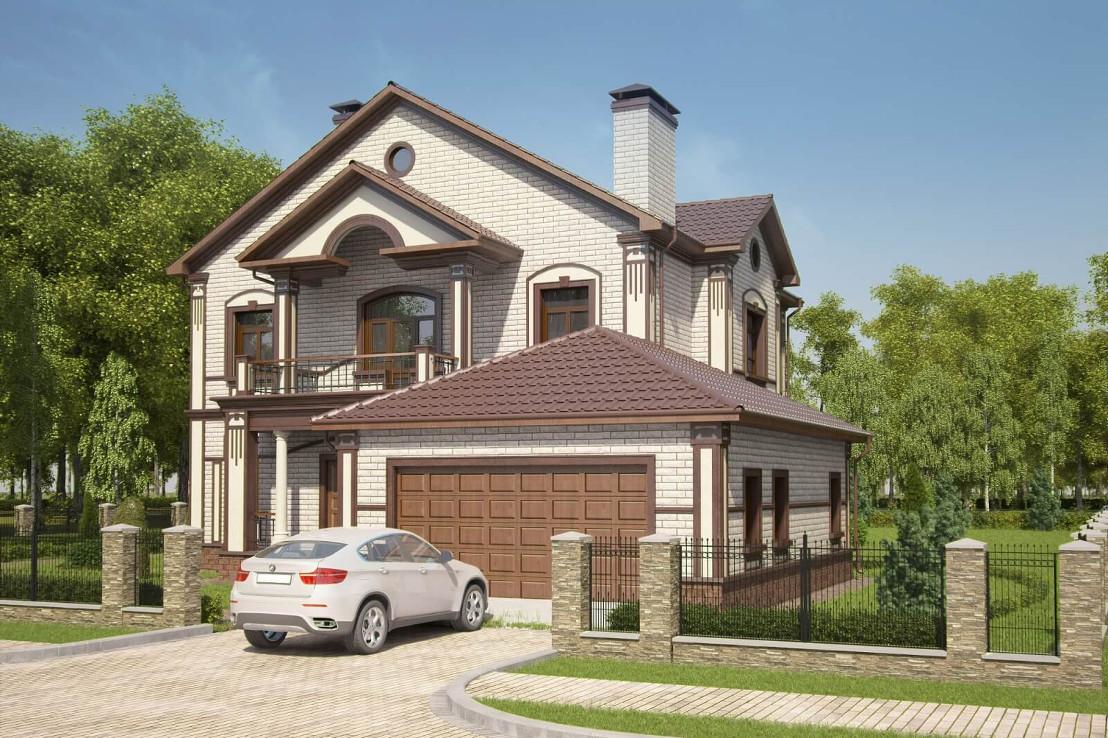 Проект дома 073N (фото фасада 3)