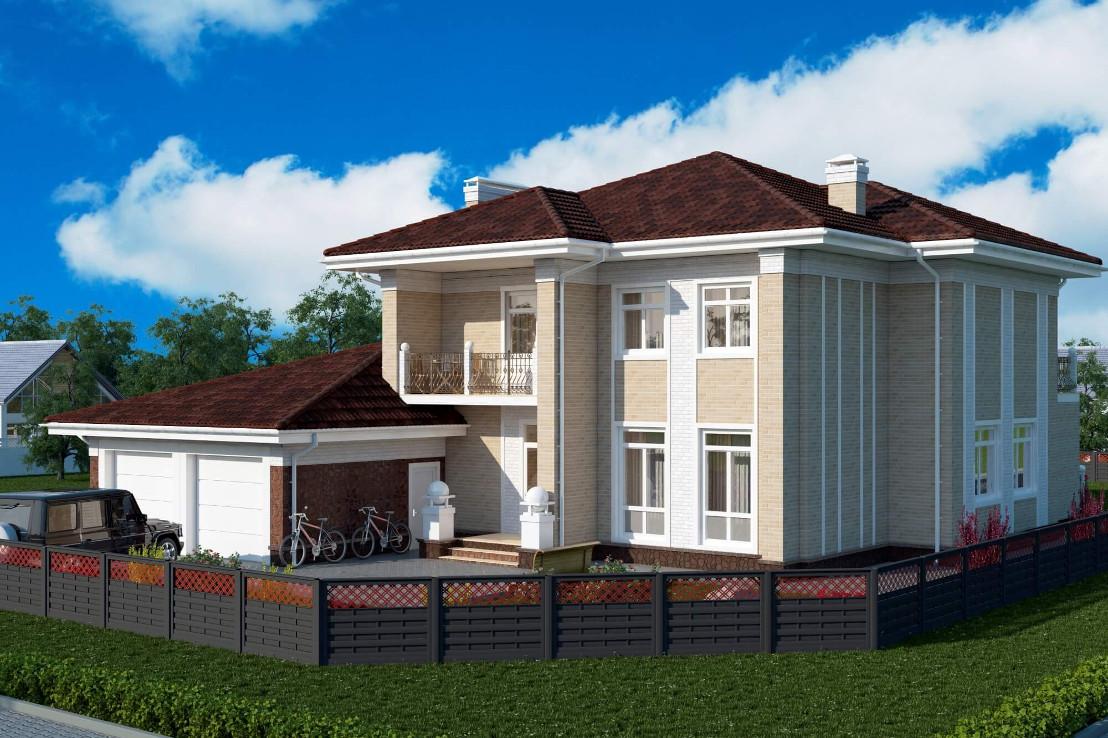 Проект дома 074N (фото фасада 1)