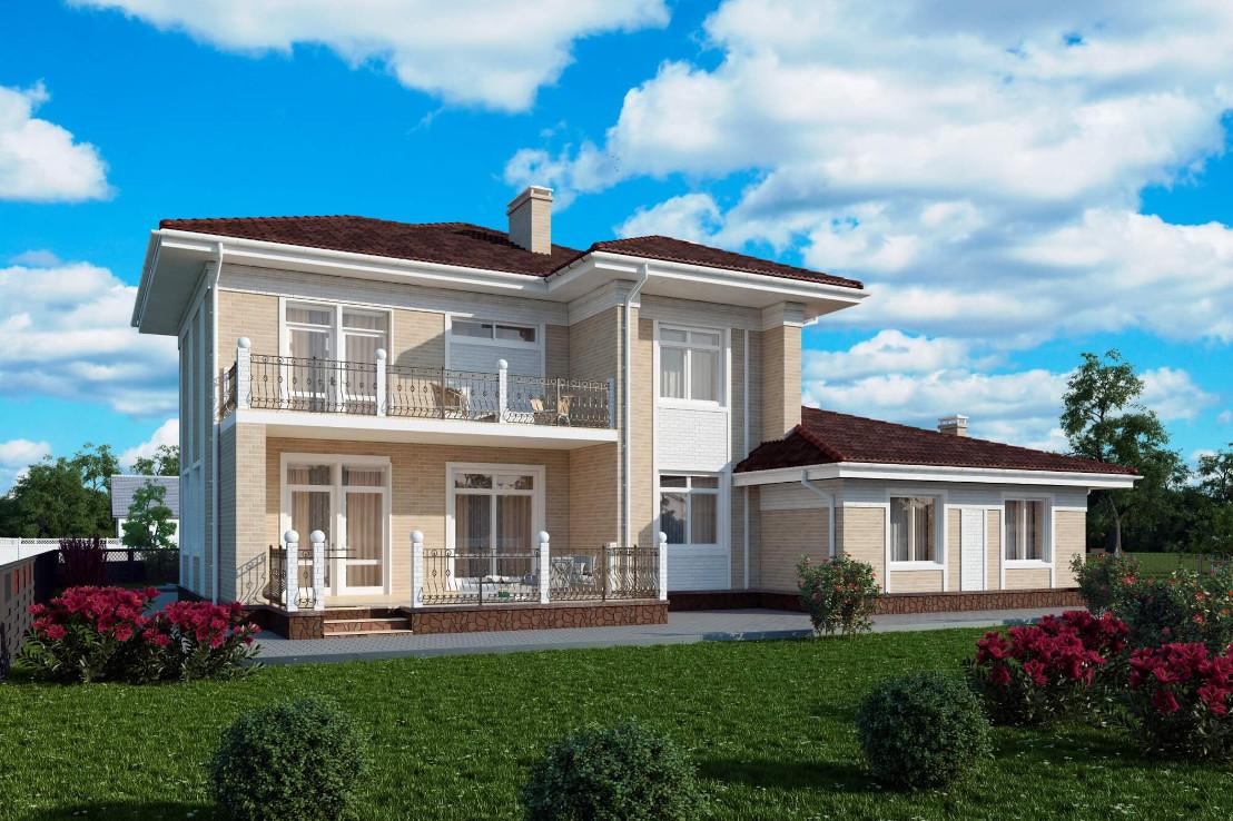 Проект дома 074N (фото фасада 2)