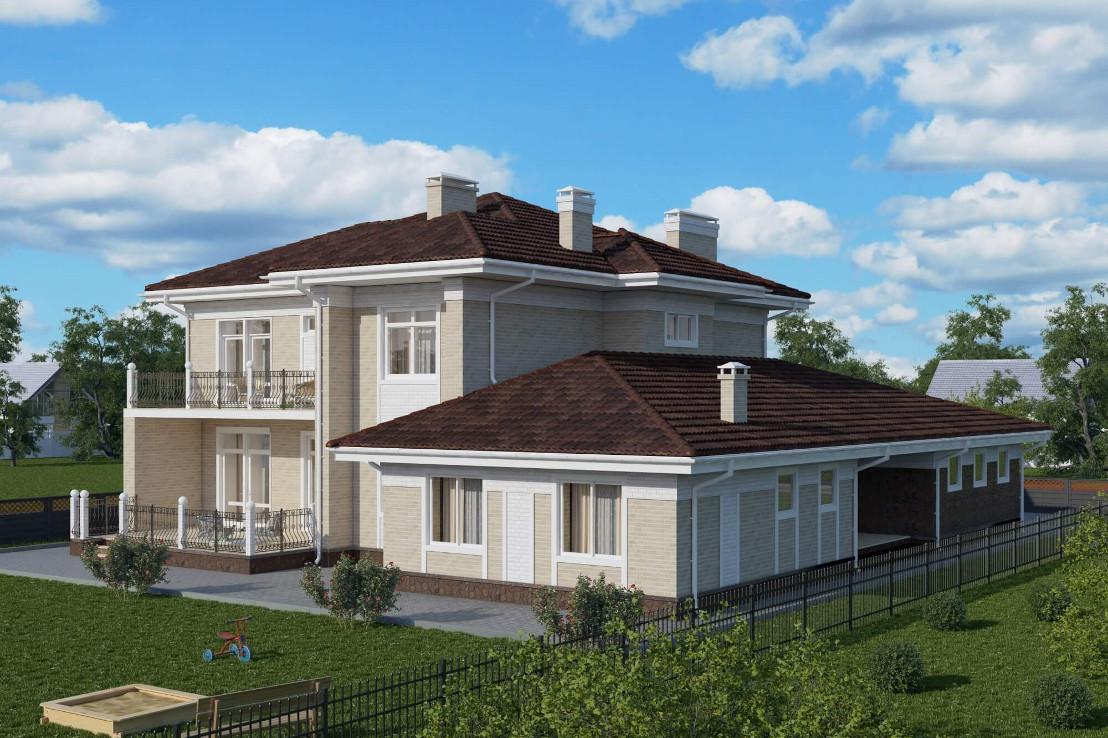 Проект дома 074N (фото фасада 3)