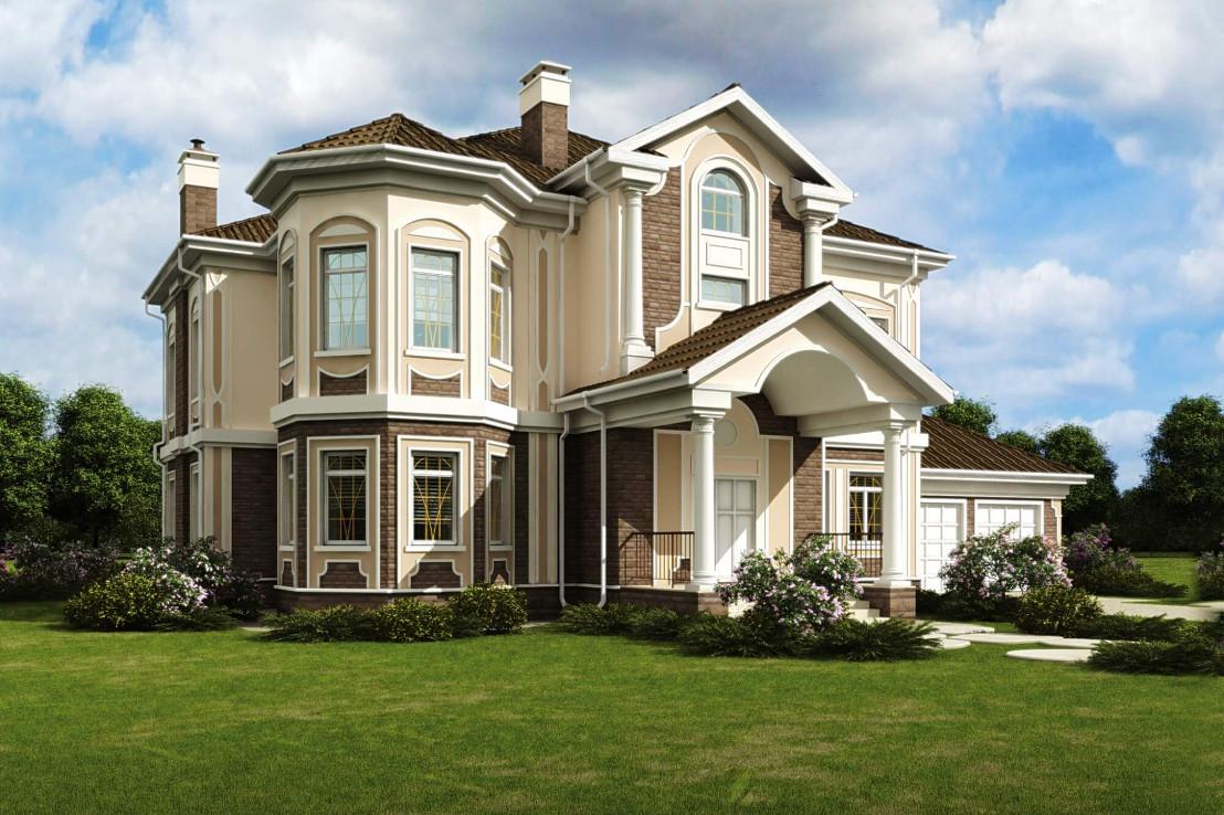 Проект дома 075N (фото фасада 1)