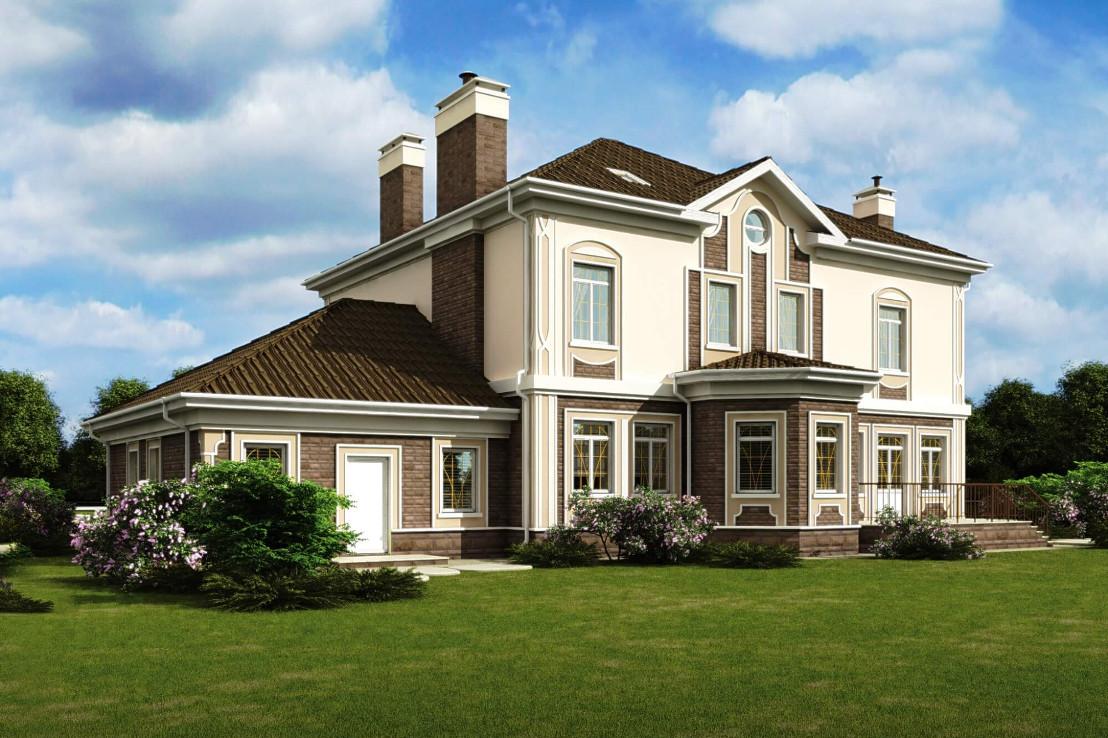 Проект дома 075N (фото фасада 2)