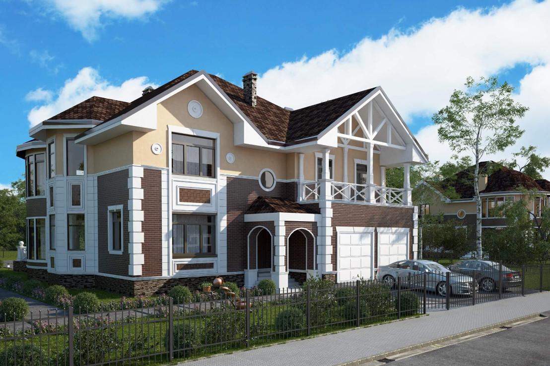 Проект дома 077N (фото фасада 1)