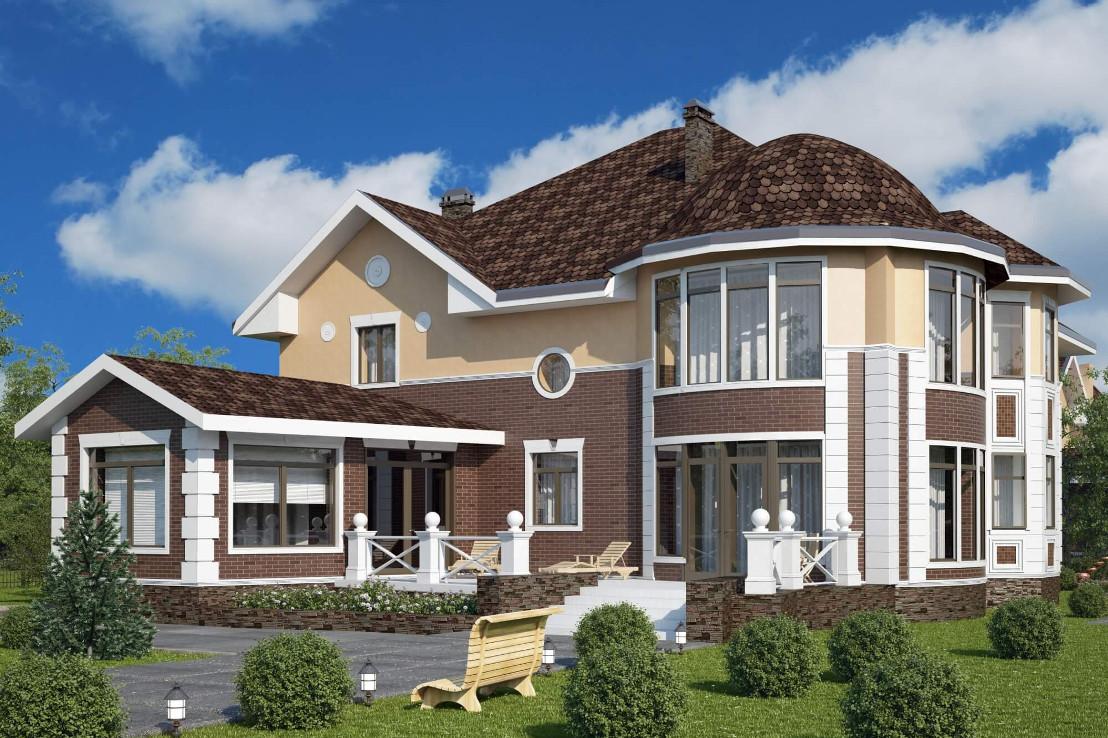 Проект дома 077N (фото фасада 2)