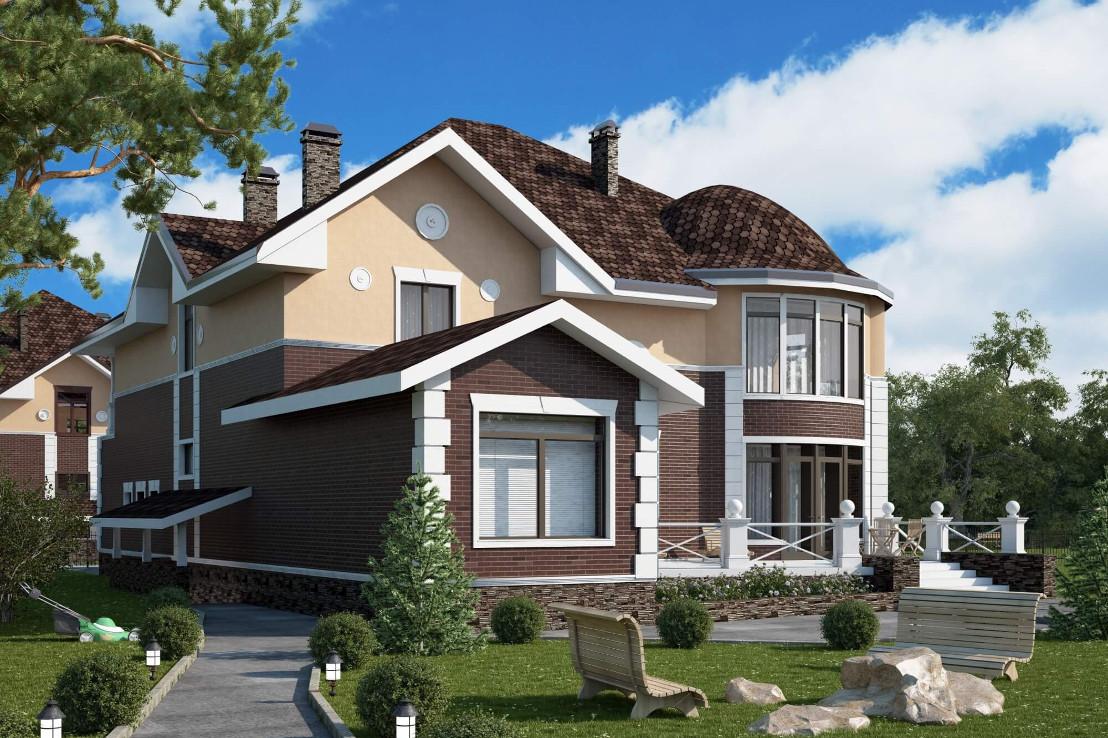 Проект дома 077N (фото фасада 3)