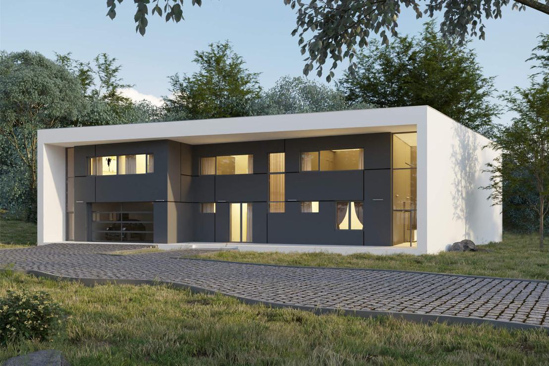 Проект дома 078N (фото фасада 2)