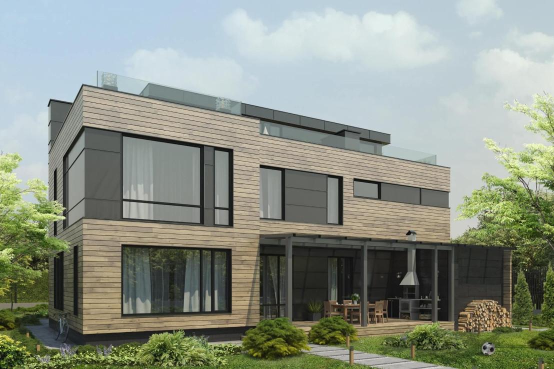 Проект дома 079N (фото фасада 1)