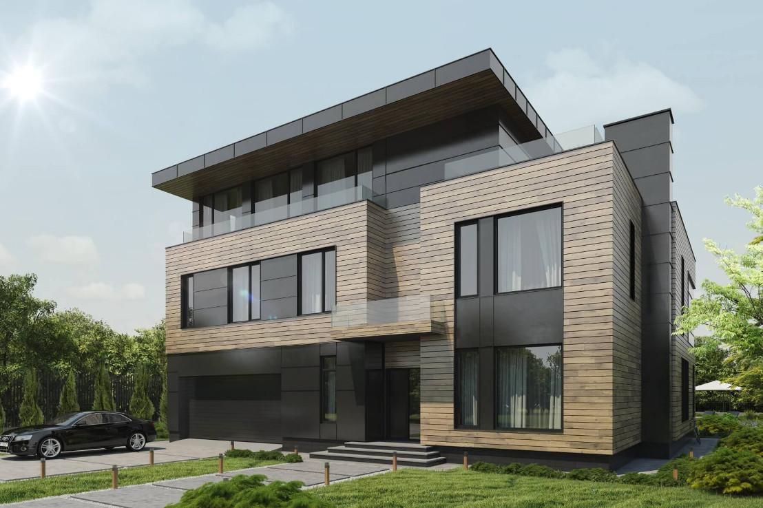 Проект дома 079N (фото фасада 2)