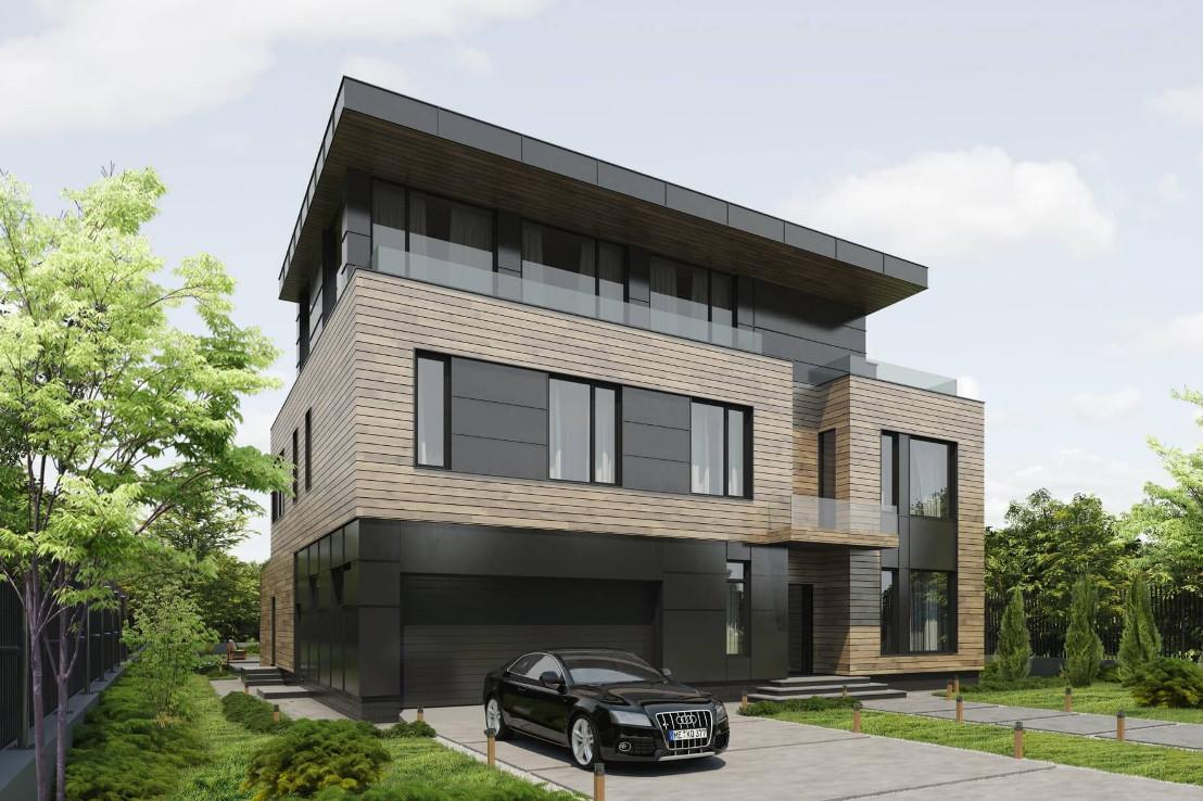 Проект дома 079N (фото фасада 3)