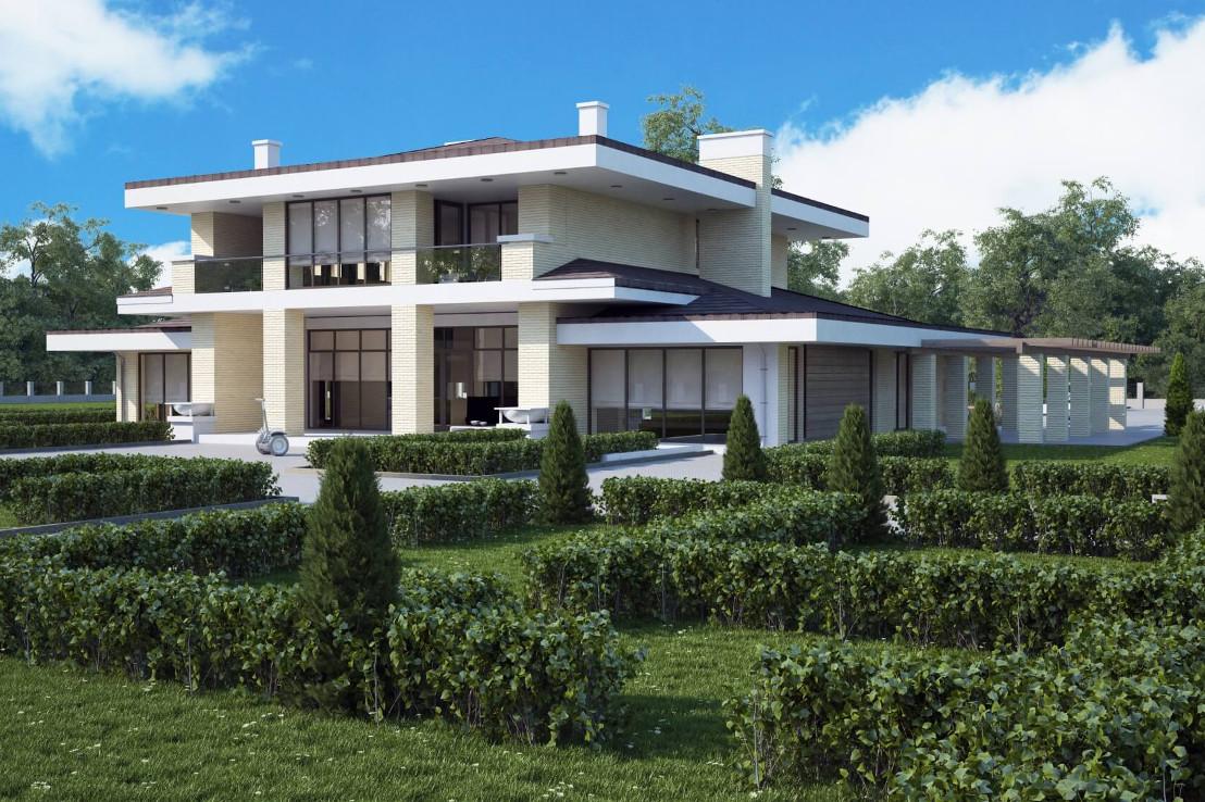 Проект дома 080N (фото фасада 1)