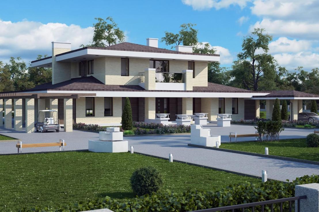 Проект дома 080N (фото фасада 2)