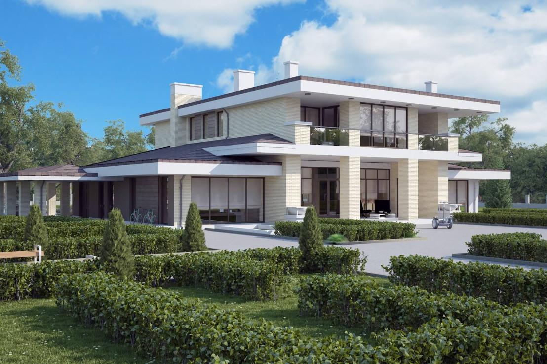 Проект дома 080N (фото фасада 3)